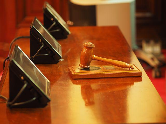 gavel inside the court room